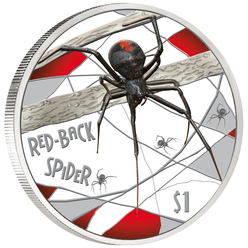 Deadly and Dangerous  Coin Box /& Coa 2012 1 oz Proof Silver Funnel Web Spider