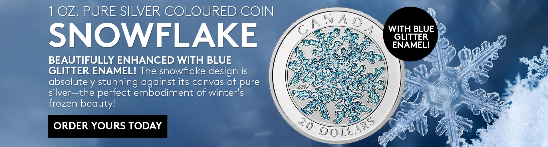 Snowflake Depicted In Pure Silver Coin