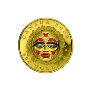 Kanada 2008 - 300$ Maska Księżycowa - Złota Moneta