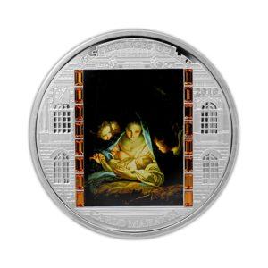 Cook Islands 2010 - 20$ Masterpieces of Art - Święta Rodzina - Carlo Maratta - 3 uncje Srebrna Moneta