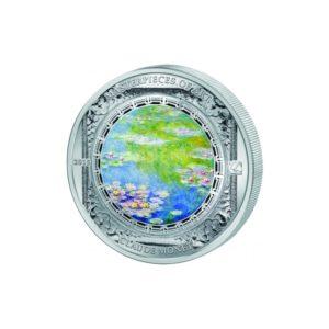 Cook Islands 2015 - 20$ Masterpieces of Art - Lilie Wodne - Claude Monet - 3 uncje Srebrna Moneta