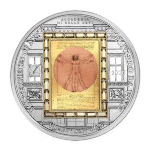 Cook Islands 2010 - 20$ Masterpieces of Art - Vitruvian Man - Leonardo Da Vinci - Edycja specjalna