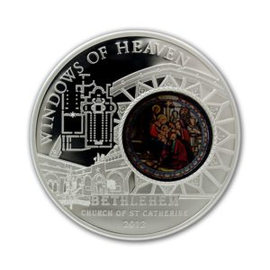 Cook Islands 2011 - 10$ Okna Niebios Londyn Westminster Abbey - Srebrna Moneta
