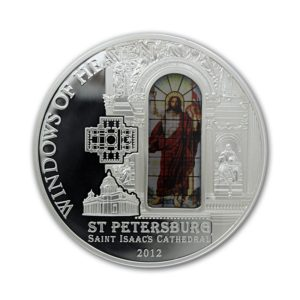 Cook Islands 2012 - 10$ Okna Niebios Katedra Sobór św. Izaaka w Sankt Petersburgu - Srebrna Moneta