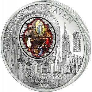 Cook Islands 2013 - 10$ Okna Niebios Katedra w Chartres - Srebrna Moneta