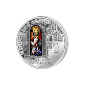 Cook Islands 2013 - 10$ Okna Niebios Katedra w Mediolanie - Srebrna Moneta