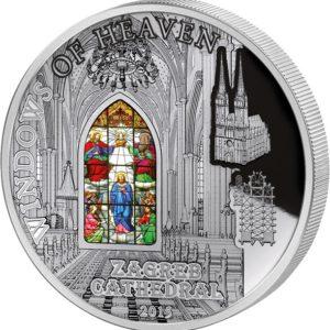Cook Islands 2015 - 10$ Okna Niebios Katedra w Zagrzebiu - Srebrna Moneta
