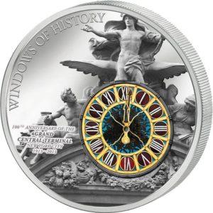 Cook Islands 2013 - 10$ Okna Historii 100 rocznica Grand Central Terminal Moneta
