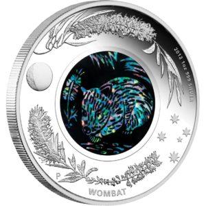 Australia 2012 - 1$ Opal Series Wombat - 1 oz. Srebrna Moneta