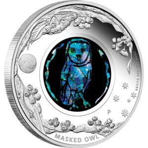Australia 2014 - 1$ Opal Series Sowa - 1 oz. Srebrna Moneta