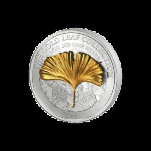Samoa 2014 - 10$ Seria Złote Liście Klonowe 3D - 1 oz. Srebrna Moneta
