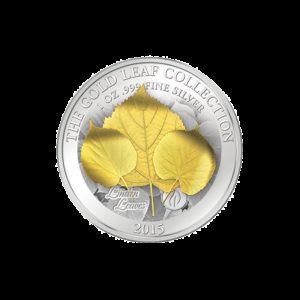 Samoa 2015 - 10$ Seria Złote Liście Klonowe 3D Lipa - 1 oz. Srebrna Moneta