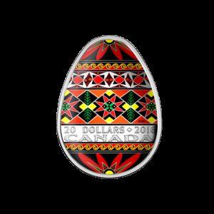 Kanada 2016 - 20$ Tradycyjna Ukraińska Pisanka Wielkanocna - Srebrna Monet