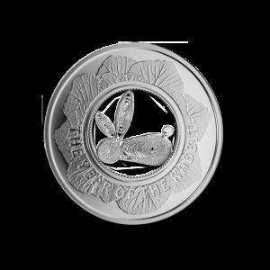Fidżi 2011 - 1$ Królik Filigranowy Chiński Rok Królika - Srebrna Moneta