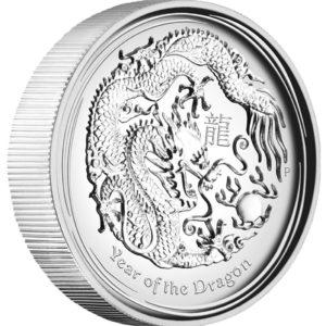 Australia 2012 - Lunar Series II Rok Smoka - 1 oz. Srebrna Moneta Wysoki Relief