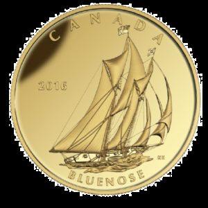 Kanada 2016 - 200$ Bluenose Kanadyjski Dwumasztowiec - 1 Uncja Czystego Złota