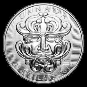 """Kanada 2016 - 25$ Rzeźbiarska sztuka Parlamentu - Groteskowy Człowiek """"Foliated"""" Maska - Srebrna Moneta"""
