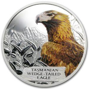 Tuvalu 2012 - 1 $ Zagrożonych i Wymarłe Orzeł Australijski - 1 Uncja Srebrna Moneta