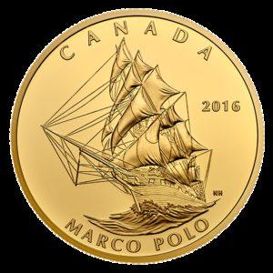 Kanada 2016 - 200$ Marco Polo Kanadyjski Żaglowiec - 1 Uncja Czystego Złota