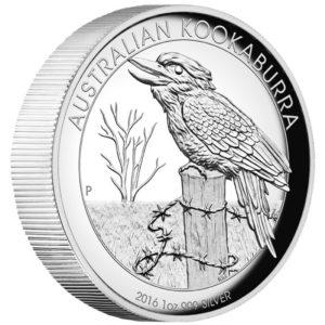 Australia 2016 - 1$ Kookaburra - 1 Uncja Wysoki Relief Srebrna Moneta
