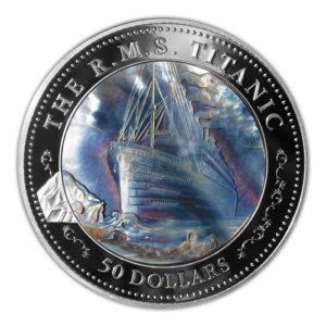 Fiji 2012 - 50$ Titanic Stulecie Katastrofy z Masy Perłowej - 5 Uncji Srebrna Moneta