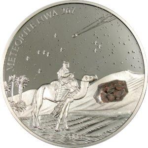 Liberia 2004 - 10$ Meteoryt NWA 267 - 2 Uncje Srebrna Moneta
