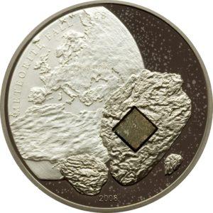 Cook Islands 2008 - 5$ Meteoryt Pułtusk - Srebrna Moneta