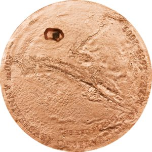 Cook Islands 2009 - 5$ Meteoryt Mars 400 Lat Obserwacji Marsa - Srebrna Moneta