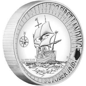 Australia 2016 - 1$ Dirk Hartog Łądowanie w Australii 1616 - 2016 - 1 Uncja Wysoki Relief Srebrna Moneta