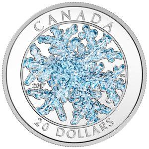 Kanada 2017 - 20$ Śnieżynka - 1 Uncja Srebrna Moneta