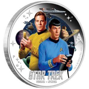 Tuvalu 2016 - 1$ Star Trek Kapitan James T. Kirk and Spock - 1 Uncja Srebrna Moneta
