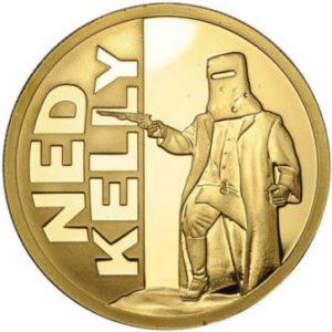 Niue Island 2010 - 100$ Ned Kelly Legendarny Australijski Bandyta - 1 Uncja Złota Moneta