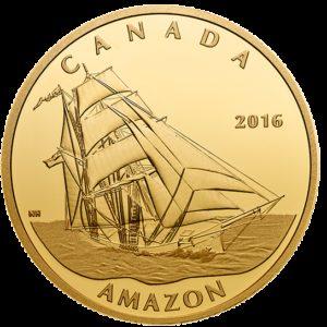 Kanada 2016 - 200$ Słynne Żaglowce Amazon - 1 Uncja Złota Moneta