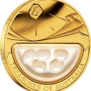 Australia 2008 - 100$ Skarby Australii Opale - 1 Uncja Złota Moneta