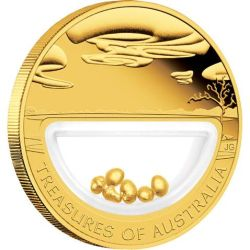 Australia 2010 - 100$ Skarby Australii Samorodki - 1 Uncja Złota Moneta