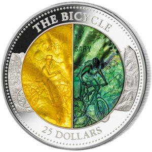 Cook Islands 2017 - 25$ Rower 200 rocznica Masa Perłowa - 5 Uncji Srebrna Moneta