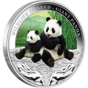 """Tuvalu 2011 - 1$ Dzika Natura w Potrzebie Wielka Panda """"1"""" - 1 Uncja Srebrna Moneta"""