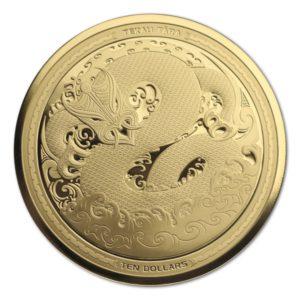 Nowa Zelandia 2017 - 150$ Mythical Taniwha Maori Art - 5 Uncji Złota Moneta