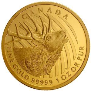 """Kanada 2017 - 200$ Łoś - Seria Zew Natury """"4"""" - 1 Uncja Złota Moneta"""