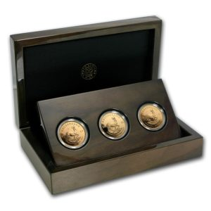 Republika Południowej Afryki 2017 - 3-Monety Vintage Krugerrand 50-lecie 1967-2017 - 3 x 1 Uncja Złoty Zestaw