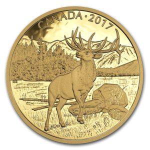 """Kanada 2017 - $350 Ikony Kanadyjskiej Przyrody Majestatyczny Łoś """"5"""" - 35 Gramów Czystego Złota"""