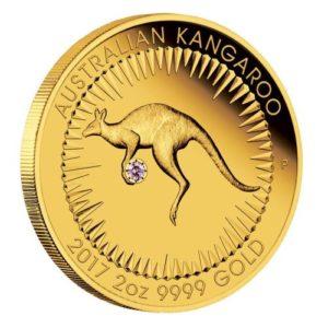 Australia 2017 - 500$ Australijski Kangur Argyle Różowy Diament - 2 Uncje Złota Moneta