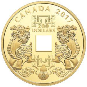 "Kanada 2017 - 200$ Feng Shui Good Luck Charms ""2"" - Złota Moneta"