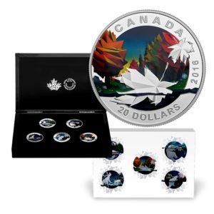 Kanada 2016 - 5 x 20$ Geometria w Sztuce Seria 5-monet Subskrypcja - 5 x 1 uncja Srebrny Zestaw Monet