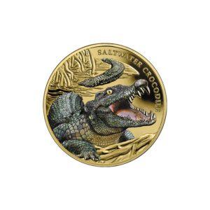 """Niue 2018 - 100$ Niezwykłe Gady Australii Krokodyl Różańcowy """"5"""" - 1 Uncja Złota Moneta"""