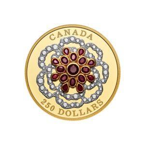 Kanada 2018 - 250$ - Klejnot Koronny z Rubinami - 2 Uncje Czystego Złota