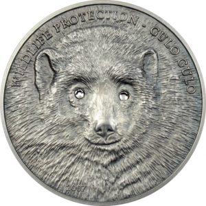 "Mongolia 2007 - 500 Tugrik Wildlife Protection Rosomak Gulo Gulo ""1"" - 1 oz Srebrna Moneta"
