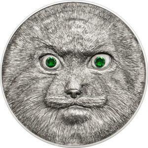 "Mongolia 2014 - 500 Tugrik Wildlife Protection Manul Stepowy ""5"" - 1 oz Srebrna Moneta"