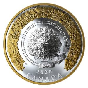 Kanada 2020 - 50$ Christmas Trais Weihnachtszug - 1 Unze Silbermünze
