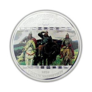 Cook Islands 2010 - 20$ Masterpieces of Art - Trzej Bohaterowie - Viktor Vasnetsov - 3 uncje Srebrna Moneta